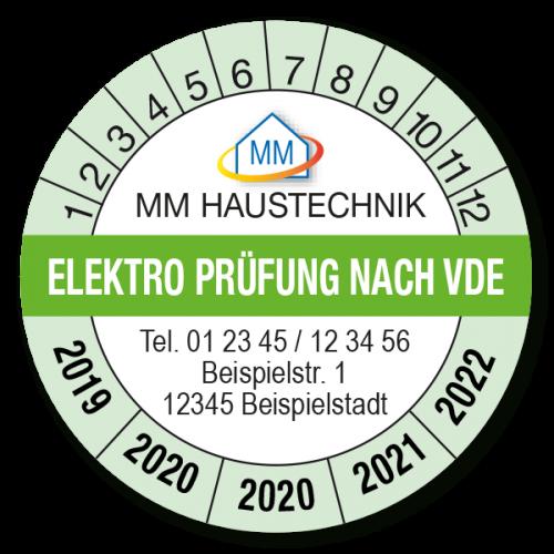 Prüfplaketten Elektroprüfung VDE