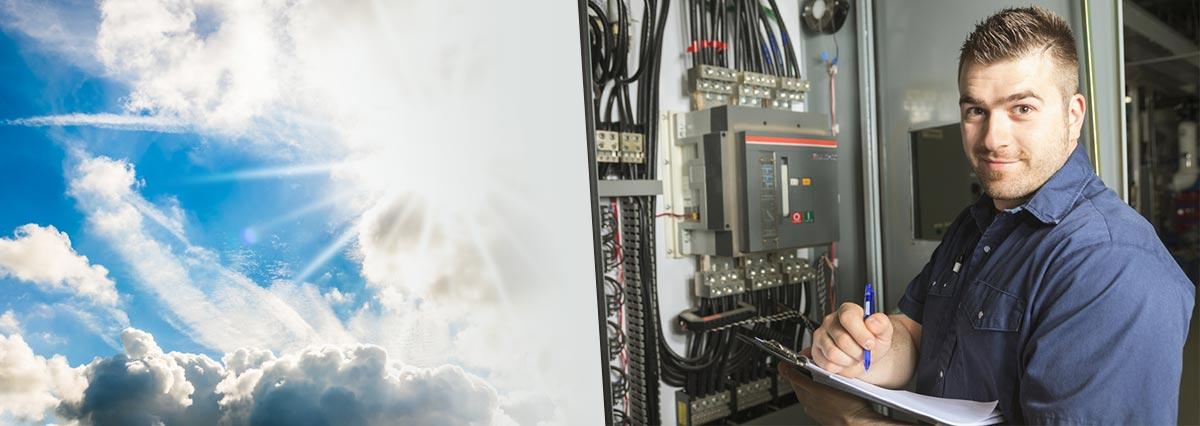 Serviceaufkleber für Elektriker