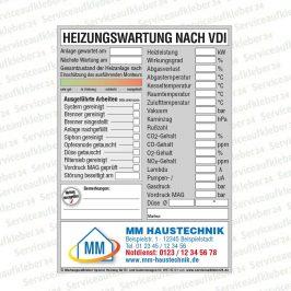 Wartungsaufkleber für Heizungen Spezial Firmenaufdruck und Logo